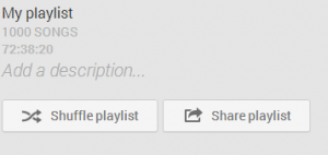 The Share Playlist button