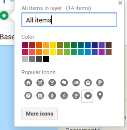 Set style for all buttons on layer